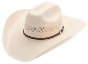 Stetson Men's Rincon Vented Straw Cowboy Hat Natural 7 5/8