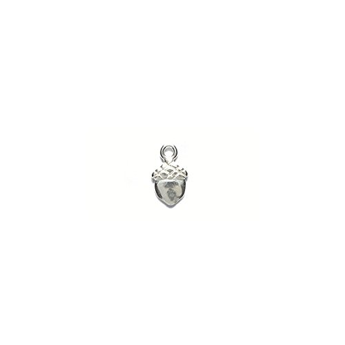 Amoracast AM354 Sterling Silver Charm Acorn Jewelry Making Components, 6 x 10mm