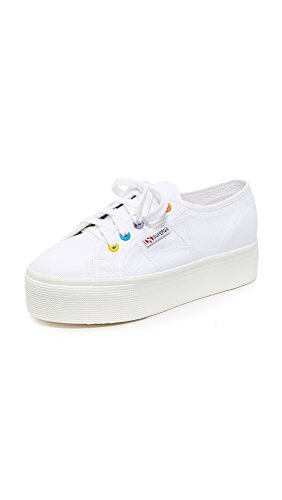 Superga Women's 2790 Platform COTW Eyelet Classic Sneakers - White (Large Image)