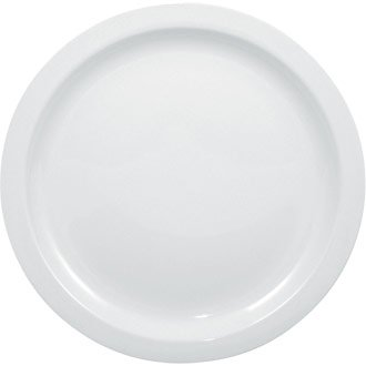 White Narrow Rimmed Plates Crockery Dinner Set - 25cm 10u0026quot; ...  sc 1 st  Amazon UK & White Narrow Rimmed Plates Crockery Dinner Set - 25cm 10