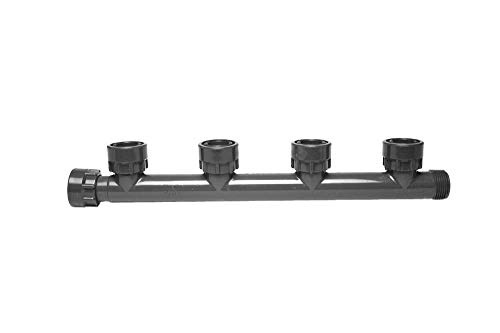 (Dura 301-020-4 Multiport Quad Swivel Tee for Sprinkler Manifold)