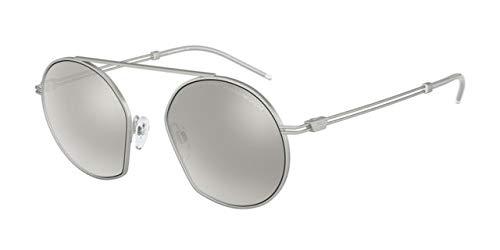 Emporio Armani 0EA2078 Gafas de sol, Matte Silver, 50 para ...