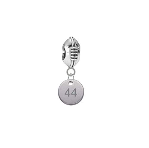 Player Number Football 3D Universal European Bracelet Charm (44) (Best European Basketball Players)