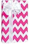 Hot Pink & White Chevron Stripe Gift Wrap Wrapping Paper - 16ft Roll