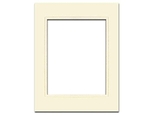 PA Framing, Double Layer Mat, 11 x 14 inches - Cream Core Ivory and Ivory Inner