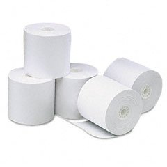 """Universal Single-Ply Thermal Paper Rolls, 3-1/8"""" x 273 ft, White, 50/Carton"""
