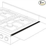 Stovetop Extender SE24BLA Oven Gap Guard (Pack of - Range Gas 24in