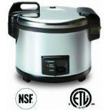 Zojirushi NYC-36 20-Cup (Uncooked) Commercial Rice Cooker and Warmer, Stainless Steel by Zojirushi