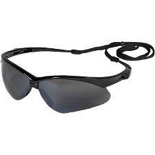 Jackson Safety V30 Nemesis Smoke Mirror Lens Safety Eyewear with Black Frame ()