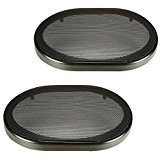 Pair 6 x 9 Inch Car Audio Speaker Metal Black Grill Cover Guard Protector Grille Universal