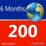 Iridium Global Prepaid Airtime SIM Card (200 Minutes)