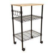 Mainstays Multi-Purpose Kitchen Cart with Adjustable Shelves