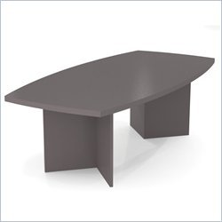 Bestar Furniture 65776-59 BESTAR 95.5'' Boat Shaped Conference Table with 1 3/4 Melamine Top in by Bestar