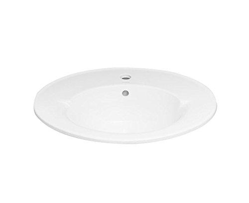 RONBOW Oval Self-Rimming Ceramic Vessel Bathroom Vanity Sink with 8