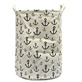 Washables Hoop - Linen Laundry Hamper Bag Washing Basket Cloth Storage Pouch Collection - Basketful Handbasket Field Goal - 1PCs