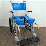GO-Anywhere SP Commode Self Propel Shower Chair, Blue