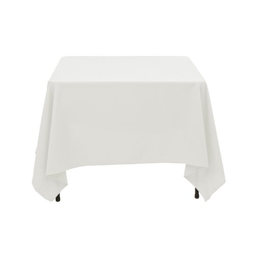 Amazon.com: LinenTablecloth Square Cotton Feel Tablecloth, 72 Inch, Ivory:  Home U0026 Kitchen