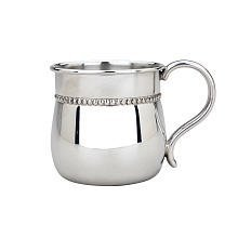 Barton Classic Baby Cup - Reed & Barton P807 Beads Pewter Baby Cup