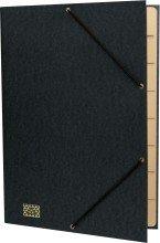 Ordnungsmappe mit Gummizug schwarz A4 f.30 Bl 9 Fächer
