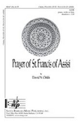 Prayer of St Francis of Assisi - SATB, Piano - Sheet Music (Prayer Of St Francis Of Assisi Music Sheet)