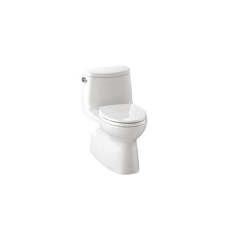 TOTO MS604114CEFRG#01 Ultramax II 1.28 GPF Toilet, Right Hand Trip Lever, Cotton (Trip Lever White Ceramic)