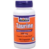 Taurine 500mg 100 Capsules 6PACK [Health and Beauty]