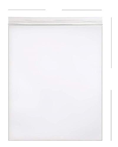 AM-Ink 1000-Pcs 9x12 Poly Self Sealing Storage Reclosable Resealable Clear Ziplock Plastic Bags 2 MIL ()