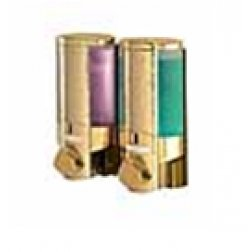 Aviva Double Chambers Shower Dispenser in Gold Plated Finish
