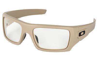 Oakley OO9253-1761 SI DET-CORD 925317 Desert Tan Frame Clear Lens Size 61 (Weißen Rahmen Oakley Sonnenbrille)