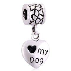 Love My Dog Heart Dangle Charm