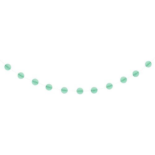 7' Comb (7ft Mint Honeycomb Ball Garland)