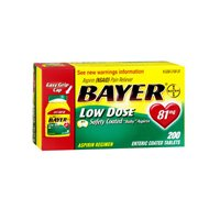 - Bayer Aspirin Regimen Pain Reliever Low Dose Enteric Coated Tablets , 120 CT (Pack of 6)
