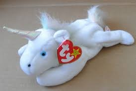 Beanie Babies Ty Mystic the Unicorn with Iridescent Horn