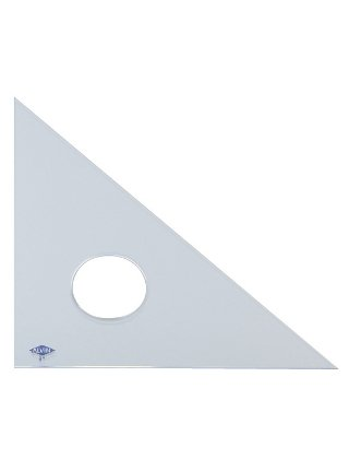 Alvin 131C-18 45-Degree/90-Degree Clear Professional Acrylic Triangle (18'') by Alvin (Image #1)