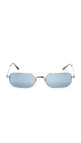 Oliver Peoples Eyewear Men's Indio Sunglasses, Silver/Cobalto, One ()