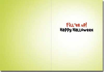 Gecko Skeleton Funny Halloween Card Photo #2