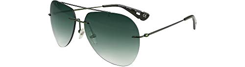 HAZARD 4 Cluster: Frameless Aviator Sunglasses - OD Green ()