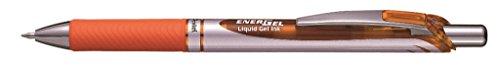 Pentel BL77 EnerGel 0.7mm Retractable Liquid Gel Roller Pen - Orange Ink (BL77-F)