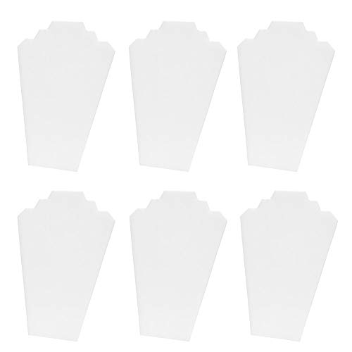 Mooca 6 Pieces White Faux Leather MDF Wood with Cardboard Easel Necklace Display 8 1/4