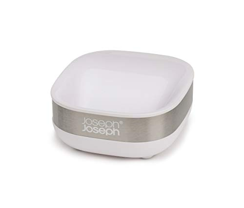 Joseph Joseph Slim Stainless-Steel Compact Soap Dish with Drain, One-Size