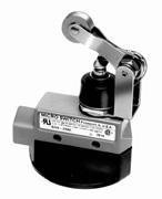 Honeywell - DTV6-2RN2 - Plunger, Roller Lever General Purpose Limit Switch; Location: Top, Contact Form: 2NC/2NO, CW Movemen
