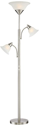 Jordan Brushed Steel Tree Torchiere 3 Light Floor Lamp Explained