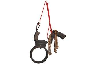 (Esschert Design Tire Swing Horse with Rope Mane)
