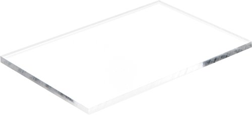 Acrylic Base - Plymor Brand Clear Acrylic Rectangular Polished Edge Display Base.25