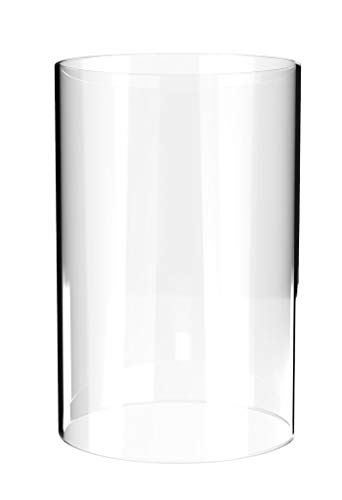 Amayan Clear Glass Cylinder Lampshade-Borosilicate Glass Height 14'' Diameter 4'' - Suitable for Wedding Decoration and Stage Props- Candle - (Multiple Specifications) by Amayan (Image #2)