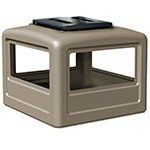 Square Ashtray Dome Lid Color: Beige