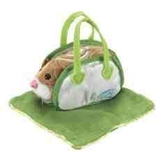 (Go Go Pets Hamster Carrier & Blanket in Green by Zhu Universe)