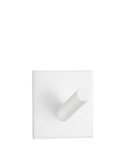 Beslagsboden Single (Beslagsboden Square Design Single Wall Mounted Hook Finish: White Matte Stainless Steel)