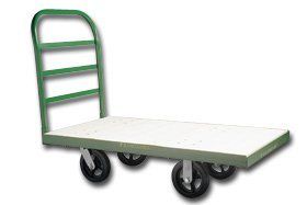 Fairbanks, Deluxe Metal Platform Trucks With Pneumatic(Air Filled) Wheels, Helq-3672-12Fpn-409, Cap. (Lbs.): 1800, Size W X L: 36 X 72'', Weight: 160, Caster Type: 12 In, Elq-3672-12Fpn-409
