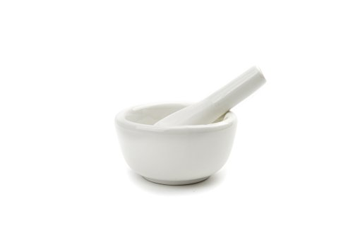 Fox Run 6240 Porcelain Mortar & Pestle, White